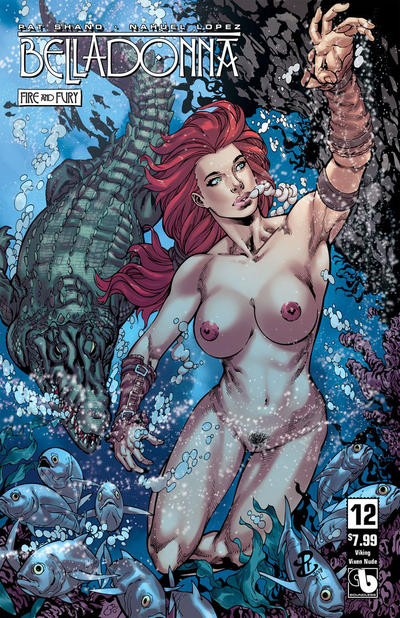 Cover for Belladonna: Fire and Fury (Avatar Press, 2017 series) #12 [Killer Body Nude Variant]