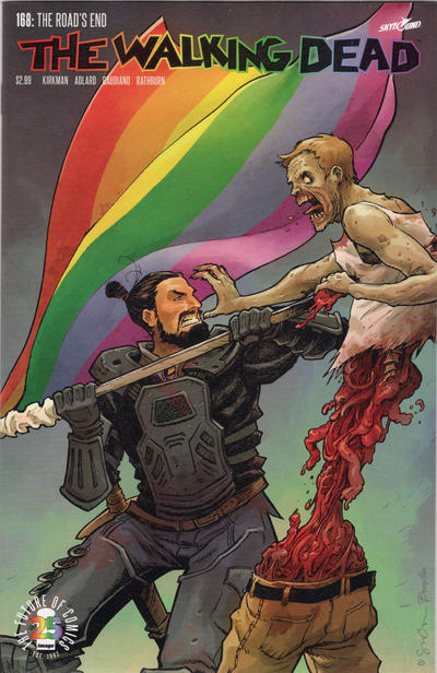 Cover for The Walking Dead (Image, 2003 series) #168 [The Walking Dead Pride Variant]