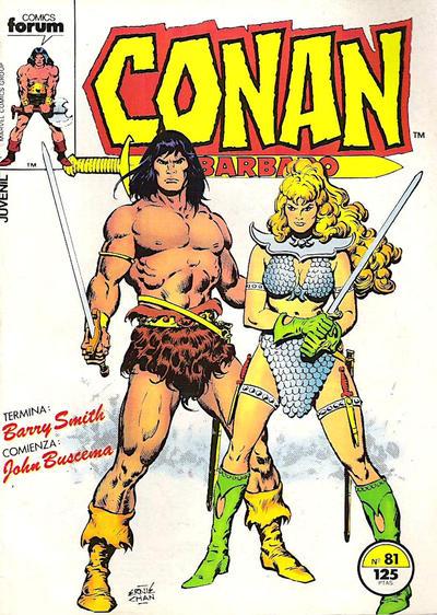 Cover for Conan el Bárbaro (Planeta DeAgostini, 1983 series) #81