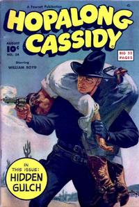 Cover for Hopalong Cassidy (Fawcett, 1946 series) #34