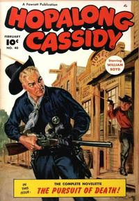 Cover for Hopalong Cassidy (Fawcett, 1946 series) #40
