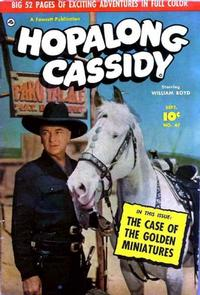 Cover Thumbnail for Hopalong Cassidy (Fawcett, 1946 series) #47