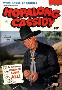 Cover Thumbnail for Hopalong Cassidy (Fawcett, 1946 series) #81