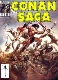 Cover Thumbnail for Conan Saga (Marvel, 1987 series) #12