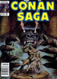 Cover Thumbnail for Conan Saga (Marvel, 1987 series) #18