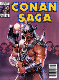 Cover Thumbnail for Conan Saga (Marvel, 1987 series) #22 [Newsstand]