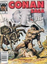 Cover Thumbnail for Conan Saga (Marvel, 1987 series) #36