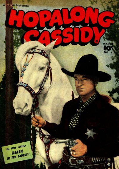 Cover for Hopalong Cassidy (Fawcett, 1946 series) #5