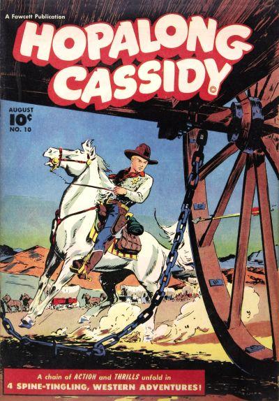 Cover for Hopalong Cassidy (Fawcett, 1946 series) #10