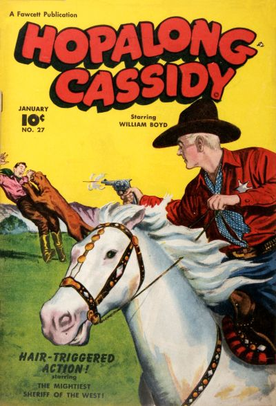 Cover for Hopalong Cassidy (Fawcett, 1946 series) #27