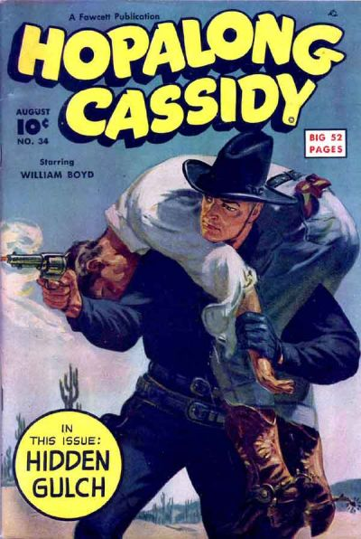Cover for Hopalong Cassidy (Fawcett, 1946 series) #34