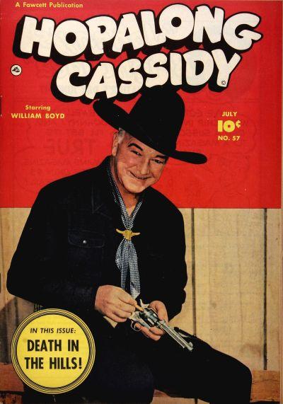 Cover for Hopalong Cassidy (Fawcett, 1946 series) #57