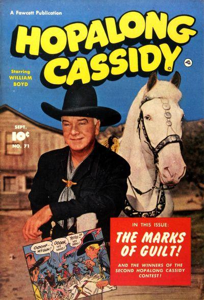 Cover for Hopalong Cassidy (Fawcett, 1946 series) #71