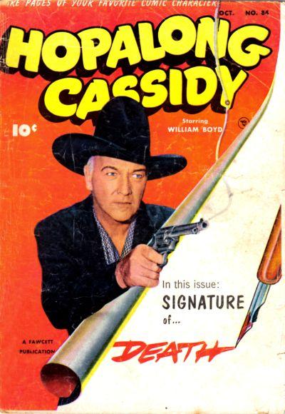 Cover for Hopalong Cassidy (Fawcett, 1946 series) #84