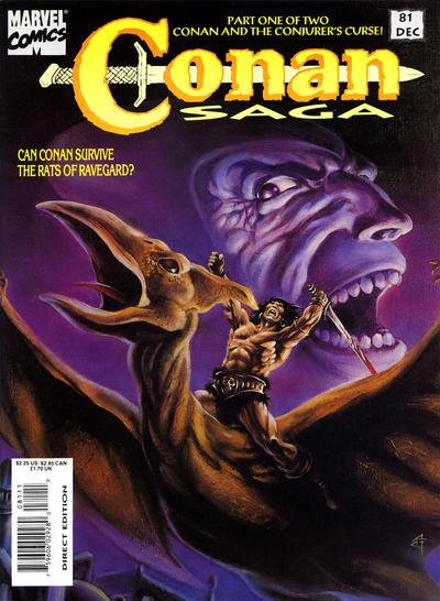 Cover for Conan Saga (Marvel, 1987 series) #81