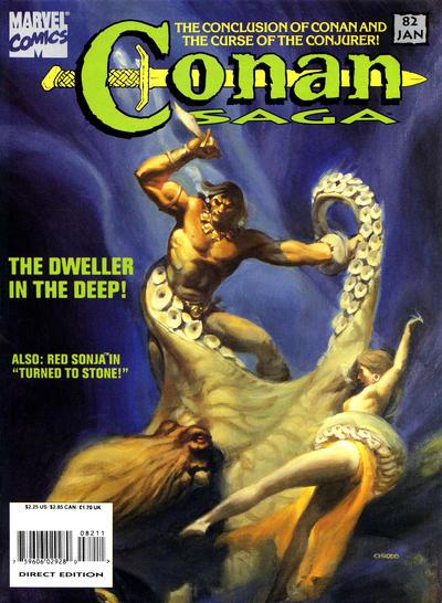 Cover for Conan Saga (Marvel, 1987 series) #82
