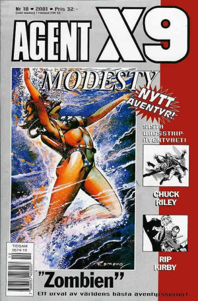 Cover for Agent X9 (Egmont, 1997 series) #10/2001
