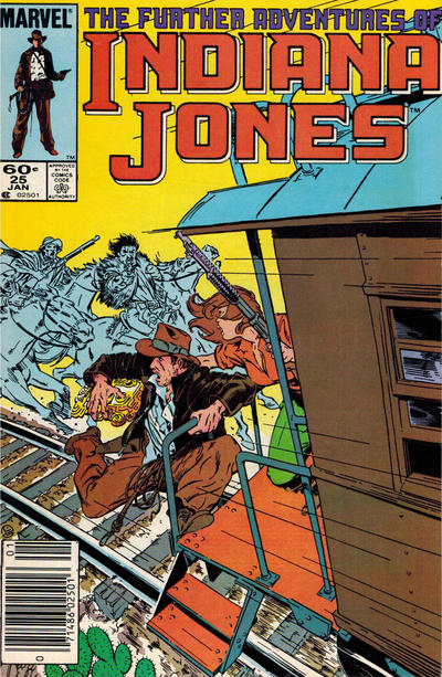 Cover for The Further Adventures of Indiana Jones (Marvel, 1983 series) #25 [Direct]