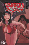 Cover Thumbnail for Vampirella/Red Sonja (2019 series) #1 [Cover E Drew Moss]