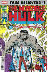Cover Thumbnail for True Believers: Hulk - Gray Hulk Returns (Marvel, 2019 series) #1