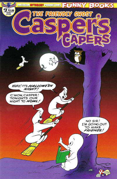 Cover for Casper's Capers (American Mythology Productions, 2018 series) #3 [Retro Cover]