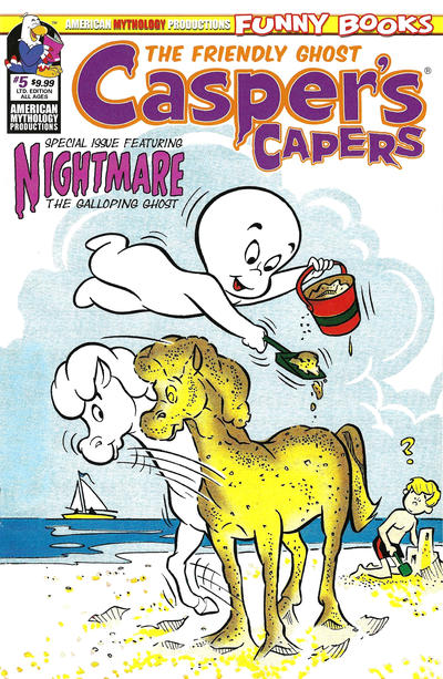 Cover for Casper's Capers (American Mythology Productions, 2018 series) #5 [Retro Cover]