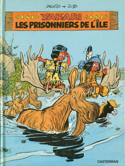Cover for Yakari (Casterman, 1977 series) #9 - Les prisonniers de l'ile