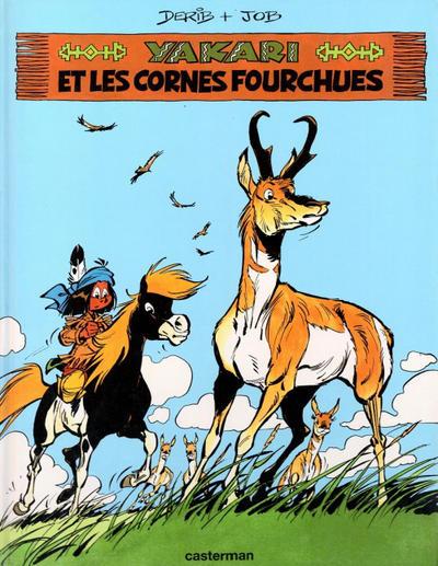 Cover for Yakari (Casterman, 1977 series) #23 - Yakari et les cornes fourchues