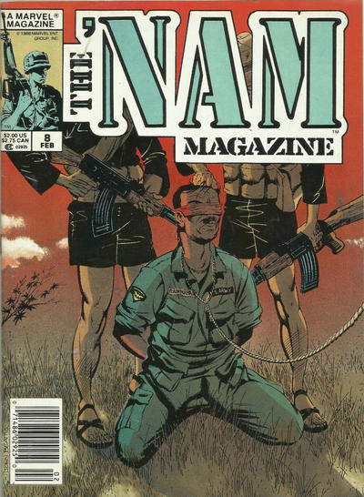 Cover for The 'Nam Magazine (Marvel, 1988 series) #8 [Newsstand]