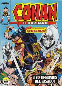Cover Thumbnail for Conan el Bárbaro (Planeta DeAgostini, 1983 series) #92