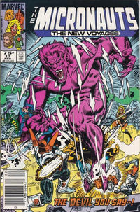 Cover Thumbnail for Micronauts (Marvel, 1984 series) #17 [Newsstand]