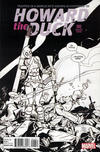 Cover for Howard the Duck (Marvel, 2016 series) #2 [Variant Cover - Second Printing - Gwenpool - Tom Fowler Black and White Cover]