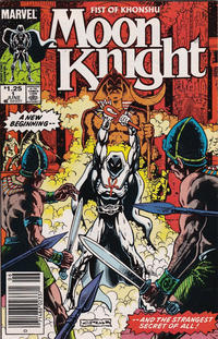 Cover Thumbnail for Moon Knight (Marvel, 1985 series) #1 [Newsstand]