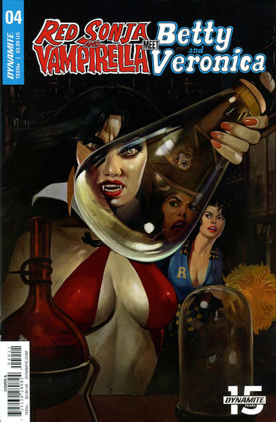 Cover for Red Sonja and Vampirella Meet Betty and Veronica (Dynamite Entertainment, 2019 series) #4 [Cover B Robert Hack]