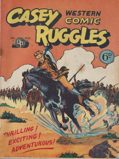 Cover for Casey Ruggles Western Comic (Donald F. Peters, 1951 series) #21