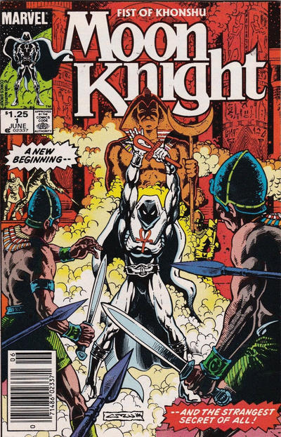 Cover for Moon Knight (Marvel, 1985 series) #1 [Canadian]