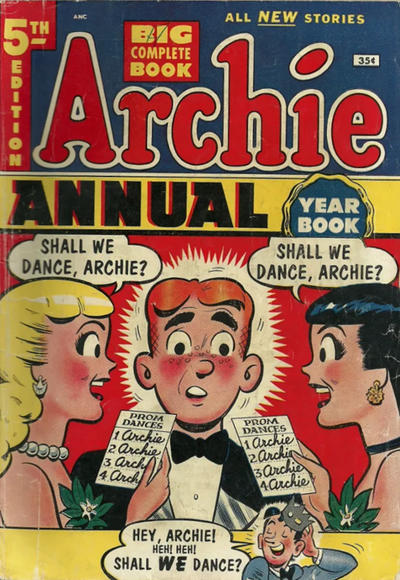 Cover for Archie Annual (Archie, 1950 series) #5 [35 cent]