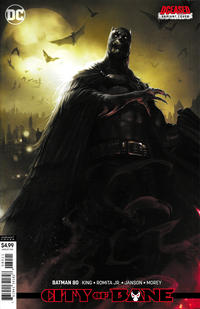 Cover Thumbnail for Batman (DC, 2016 series) #80 [Francesco Mattina DCeased Cardstock Variant Cover]