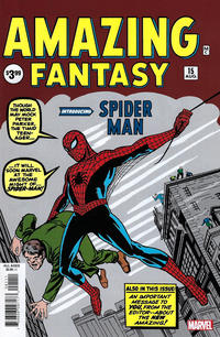 Cover Thumbnail for Amazing Fantasy #15 Facsimile Edition (Marvel, 2019 series)