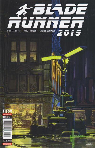 Cover for Blade Runner 2019 (Titan, 2019 series) #3 [Syd Mead Virgin Art]