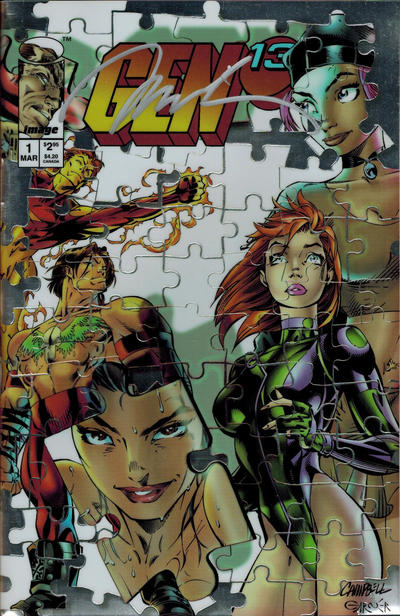 Cover for Gen 13 (Image, 1995 series) #1 [Picto-Fiction Cover 1-L]