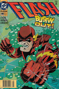 Cover Thumbnail for Flash (DC, 1987 series) #90 [Newsstand]