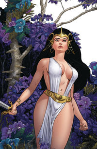 Cover Thumbnail for Edgar Rice Burroughs' the Moon Maid: Catacombs of the Moon (American Mythology Productions, 2019 series) #3 [Variant Virgin Cover]