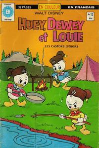 Cover Thumbnail for Huey, Dewey et Louie - Les Castors Juniors (Editions Héritage, 1980 series) #13