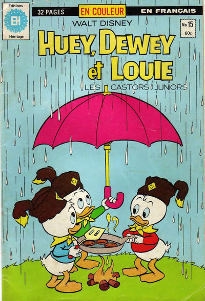 Cover for Huey, Dewey et Louie - Les Castors Juniors (Editions Héritage, 1980 series) #15