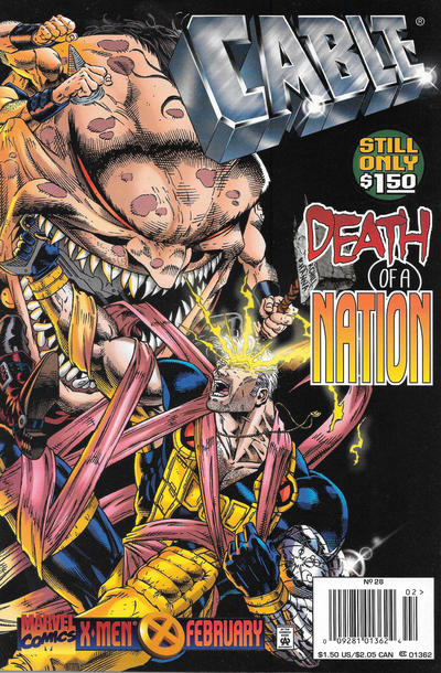 Cover for Cable (Marvel, 1993 series) #28 [Direct Edition]