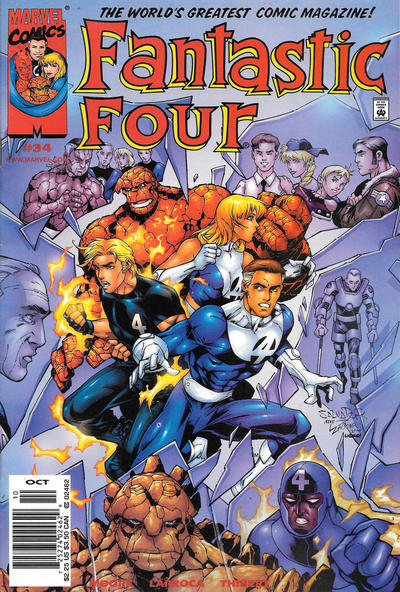 Cover for Fantastic Four (Marvel, 1998 series) #34 [Direct Edition]