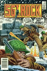 Cover Thumbnail for Sgt. Rock (DC, 1977 series) #394 [Newsstand]