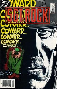 Cover Thumbnail for Sgt. Rock (DC, 1977 series) #407 [Newsstand]