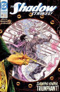 Cover Thumbnail for The Shadow Strikes! (DC, 1989 series) #22